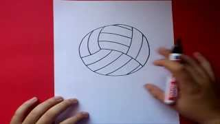 Como dibujar un balon de volleyball paso a paso | How to draw a ball of volleyball