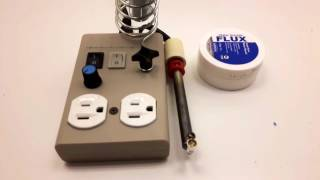 Homemade Soldering Station with Solder Pot.