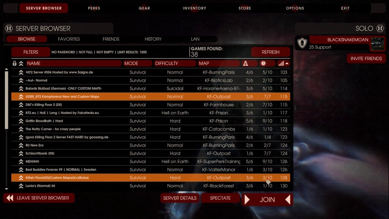 Good Killing Floor 2 (04 11 2016) Not Connect Multiplayer Servers (problem  Solved)