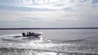 SOS Mini Speed Boat In Motion