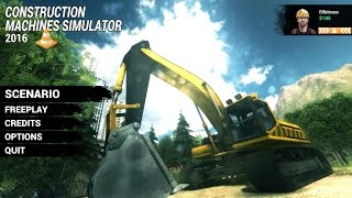 Construction machine simulator 2016