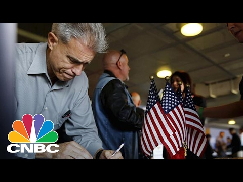 US Jobless Claims Fall More Than Expected Last Week | Squawk Box | CNBC
