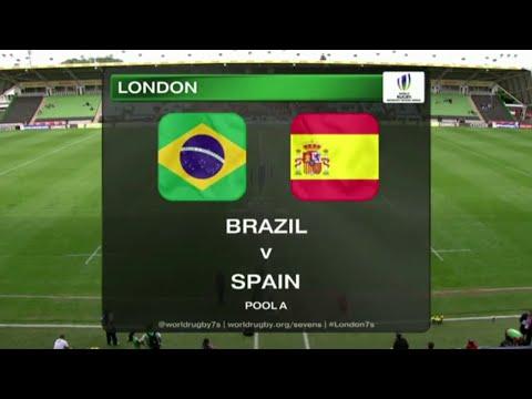 Brazil vs Spain - Rugby Women´s Sevens World Series London 2015