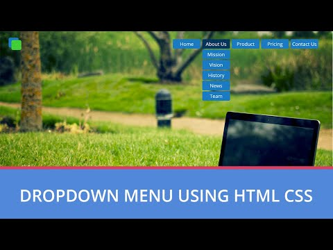 How To Make Dropdown Menu Using HTML And CSS | Hindi HTML Tutorial