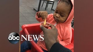 Skeptical toddler trying ketchup for the first time is all of us | GMA Digital