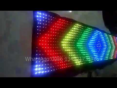 P6 120 cm by 500 cm LED Flexible Display LED Video Cloth PC/DMX Control With SD Card