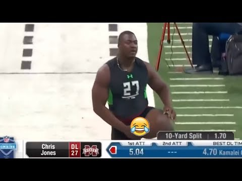 The 10 Funniest NFL Combine Bloopers (A Dudes Weiner Falls Out)