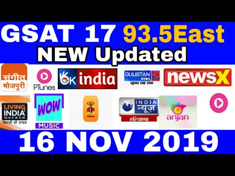 Gsat 17 at 93 5 East latest Update Channel list || complete channel list  16/11/2019