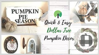 QUICK & EASY DOLLAR TREE PUMPKIN DIYS | DOLLAR TREE FALL FARMHOUSE DECOR