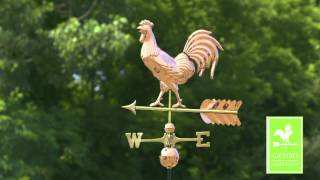 Good Directions 953p Smithsonian Rooster Weathervane - Polished Copper