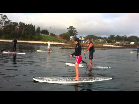 Husky Triathlon Water Marshalls - The local SUP crew