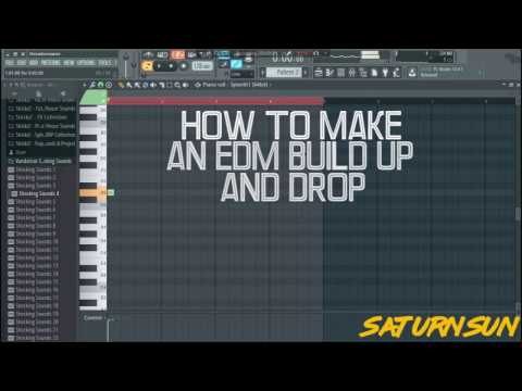 HOW TO MAKE AN EDM BUILD-UP AND DROP! [FREE FLP] - FL STUDIO