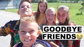 KIDS SAD ON LAST DAY OF SCHOOL  SAYING GOODBYE TO FRIENDS FOREVER