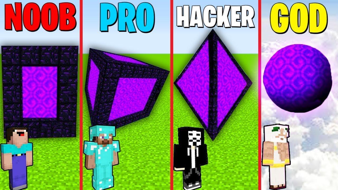 Minecraft Battle: NOOB vs PRO vs HACKER vs GOD : SECRET PORTAL CUBE  Challenge in Minecraft Animation