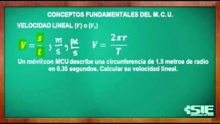 Velocidad Lineal O Tangencial Del MCU