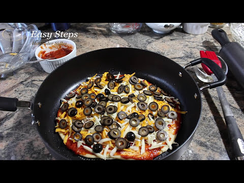 How To Make Homemade Olive Pizza without Oven