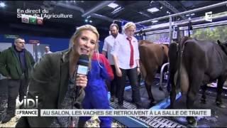 ANIMAUX : Au salon, les vaches se retrouvent en salle de traite