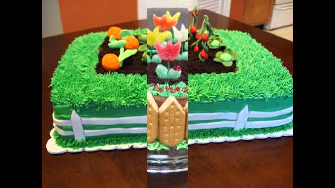 Garden Cake Decorations Ideas YouTube