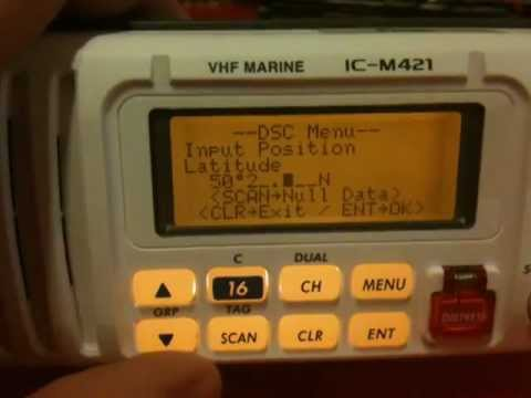 VHF Radio - Manually entering your position