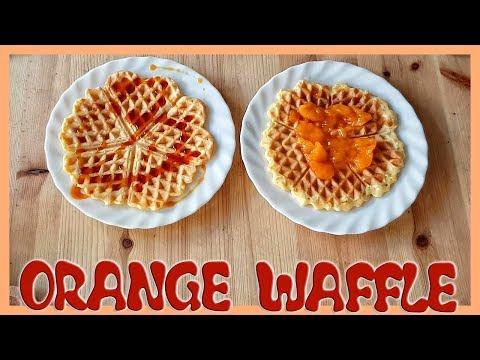 How to Make Orange Waffle   Orange Waffle Recipe