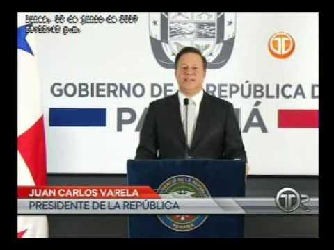 Telemetro Presidente Juan Carlos Varela habla en cadena nacional