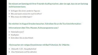 Schreiben a1 deutsch test A1 Brief