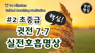 [10분] 귓전 77호흡법(초중급명상호흡)