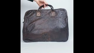 NOBILE - Large Italian Leather Document Bag by Campomaggi