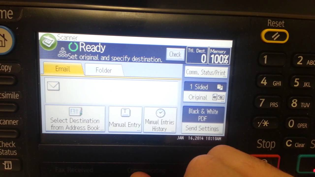 Ricoh MP301 Sender name has not been registered fix video
