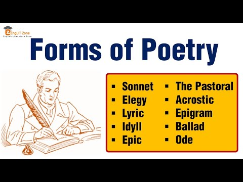 Forms of Literature: Forms of Poetry | Types of Poetry in English Literature | Sonnet | Ode | Epic