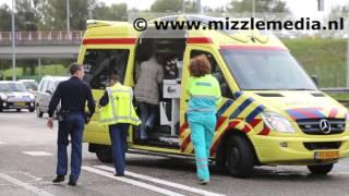 Baby naar ziekenhuis na ongeval op de A208 bij Santpoort-Noord