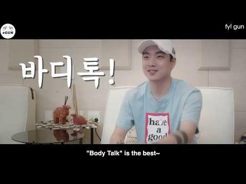[ENG SUB] D+I - Body Talk (K-POP Ver.)   with #Gun (Interview)