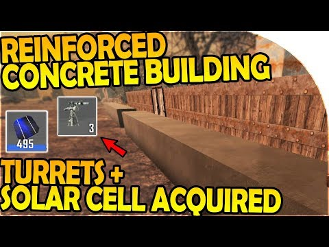 REINFORCED CONCRETE WALL BUILDING + TURRETS - 7 Days to Die Alpha 16 Gameplay Part 31 (Season 2)