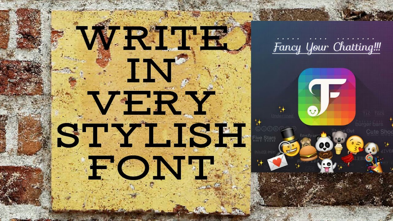 stylish fonts for android - YouTube