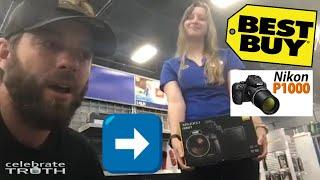 Flat Smacking While Buying a Nikon P1000 Camera at Best Buy