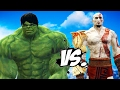 The Incredible Hulk Vs Kratos (god Of War)