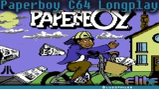 Paperboy - C64 Longplay / Full Playthrough / Walkthrough (no commentary)