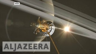 Space probe Cassini flies inside Saturn