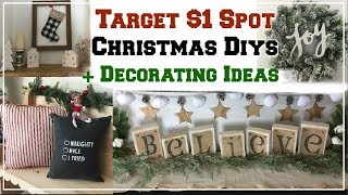 CHRISTMAS DIYS & DECORATING IDEAS FROM TARGET $1 SPOT | Momma From Scratch