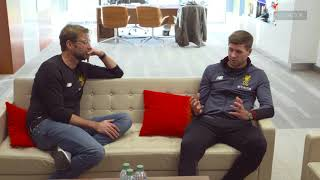 Interview with Jürgen Klopp and Steven Gerrard  This Is Melwood