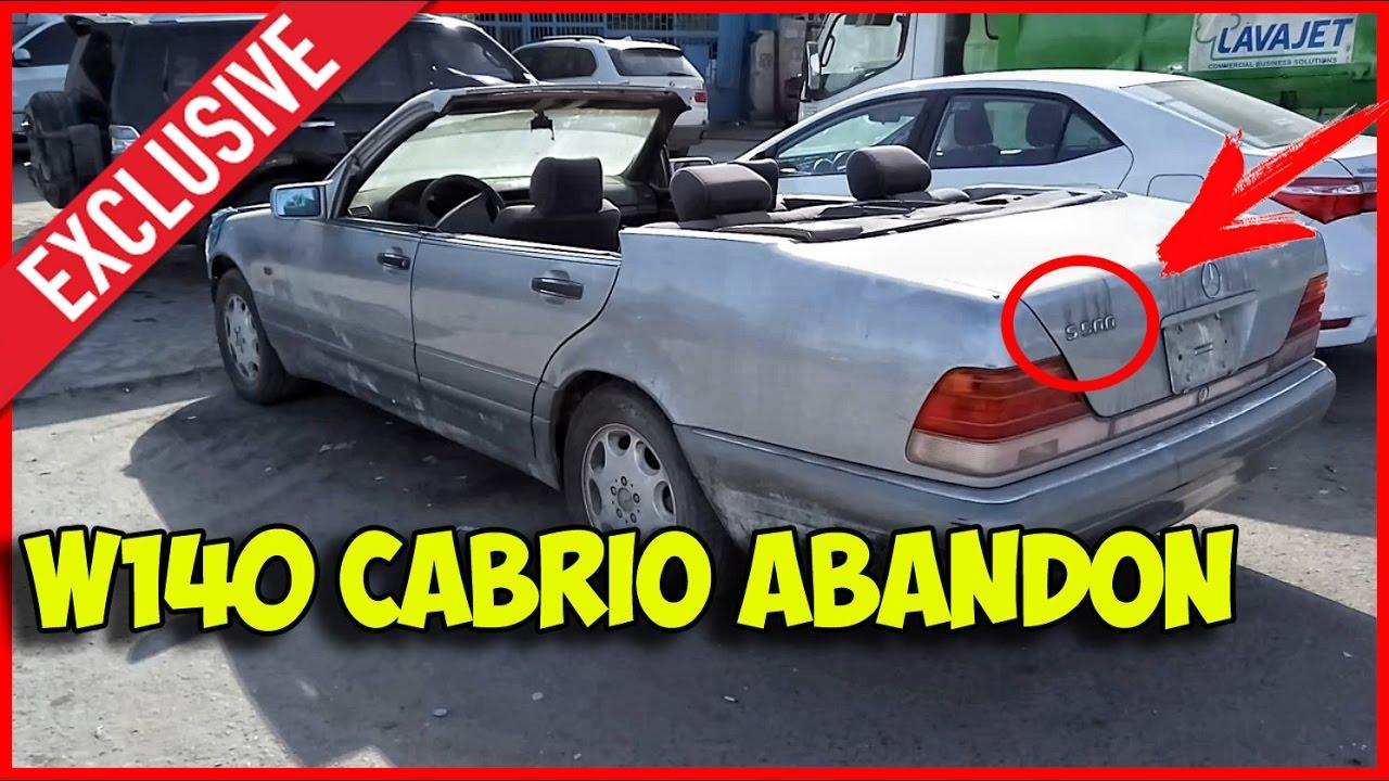 Abandoned Mercedes Benz W140 S500 Cabrio Exclusive