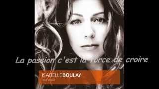 Sans Toi - Isabelle Boulay (Lyrics)