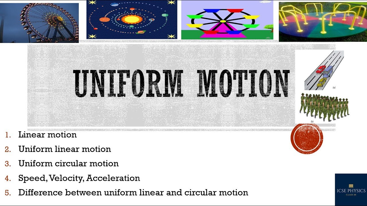 Linear motion   velocity   force.