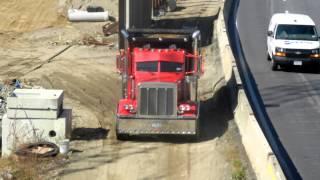 Peterbilt 379 Dump Truck Raising Tarp