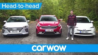 Toyota Prius vs Hyundai Ioniq vs Kia Niro 2018 review – what's the best hybrid? | Head2Head