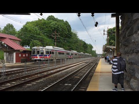 SEPTA HD 60 FPS: Paoli/Thorndale Line Afternoon Action @ Paoli Station 5/24/16