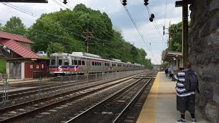 SEPTA HD 60fps: Paoli/Thorndale Line Afternoon Action @ Paoli Station 5/24/16