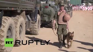 Syria: Russian sappers head to Palmyra from Latakia for demining mission