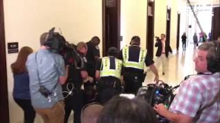 'No Cuts to Medicaid!' Capitol Police Haul Away Disabled Protestor