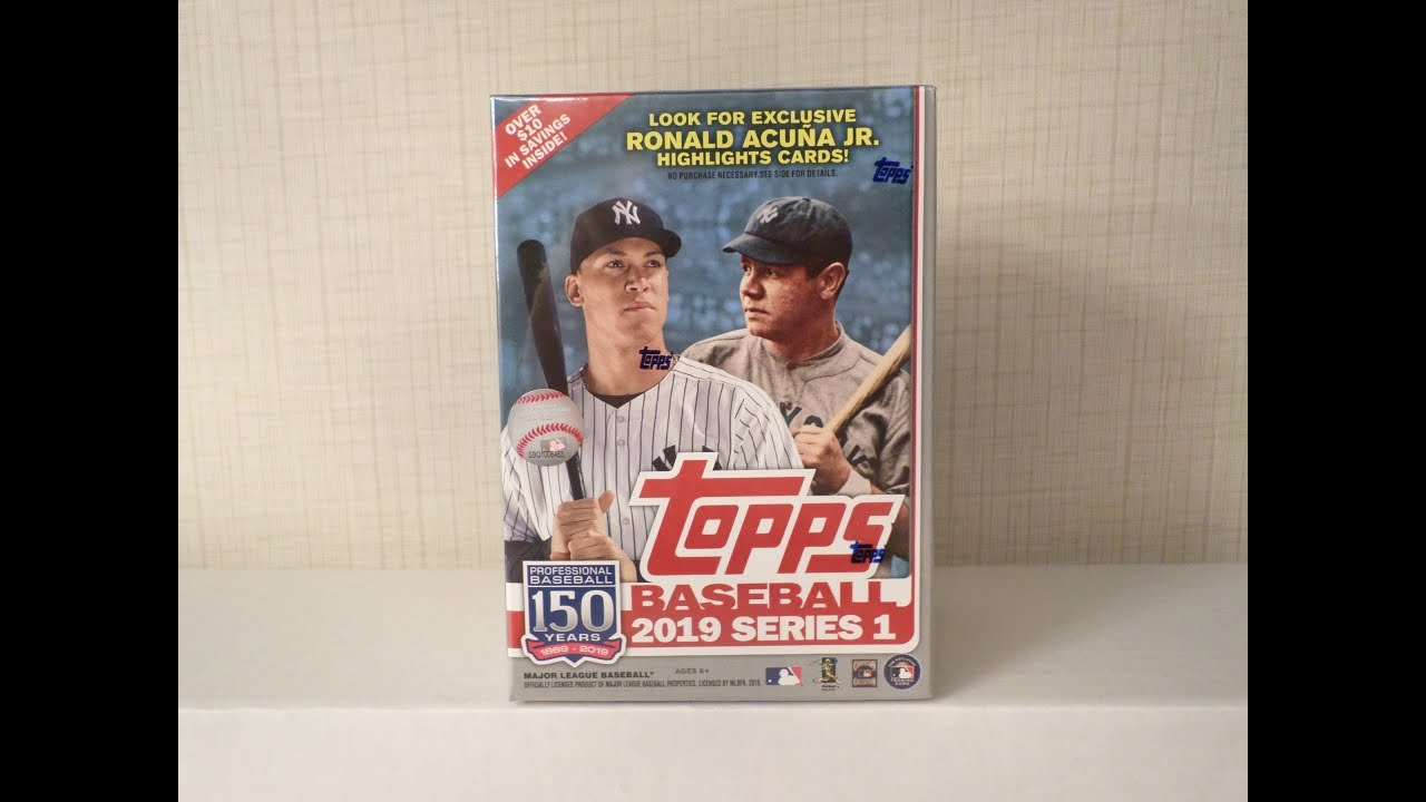 2019 Topps Series 1 Baseball Cards Walmart Exclusive Blaster Unboxing